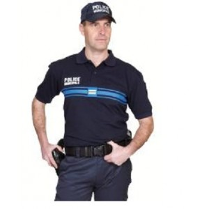Polo manches courtes Bleu Marine STARCOOL Police Municipale