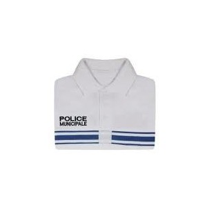 Polo manches courtes Blanc STARCOOL Police Municipale